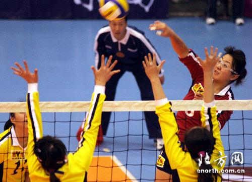 全国女排联赛 南开大学女排主场1 3不敌北京队 高清图片