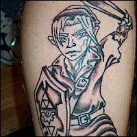 把游戏纹在身上 国外玩家游戏纹身赏