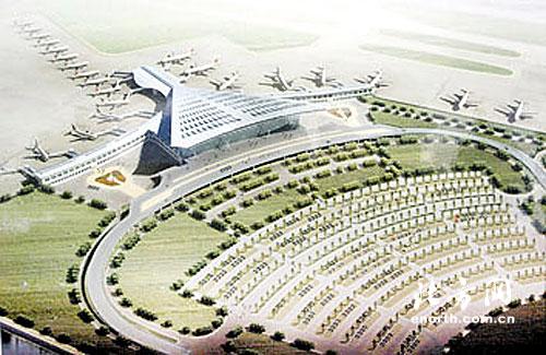 滨海国际机场扩建效果图