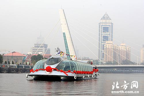 通透型海河豪华景观游船开航-海河观光船-北方网