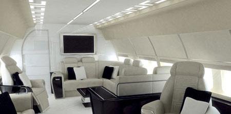 Versace設計頂級私人飛機機艙內飾