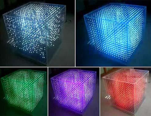 可以表现立体图像的三维LED显示器