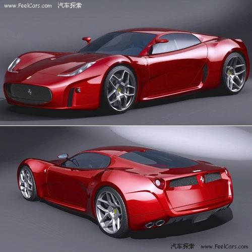 法拉利最新创意 经典f430概念车高清图片