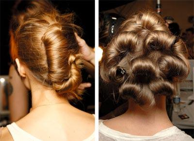 具有中世纪贵族气质的复古盘发,高高在上却一反常态的优雅发髻,以及随图片