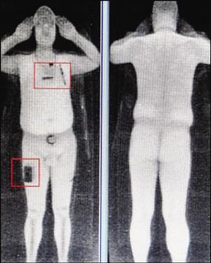 英国机场安检试行『裸体』扫描 生殖器清晰可