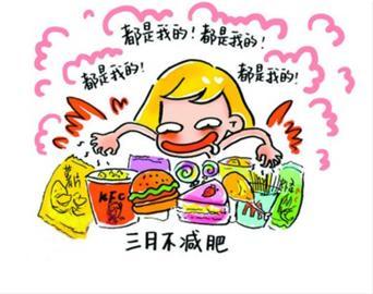 苗条漫画绘减肥励志女生:4月不减肥5月菜谱雷减肥路人家常菜做法图片