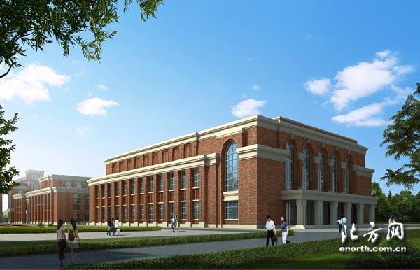 风雨操场效果图-天津援建最大项目和田高级中学7月底主体竣工高清图片