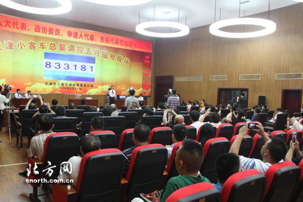 天津市小客车总量调控5月摇号 中签率为1.44高清图片