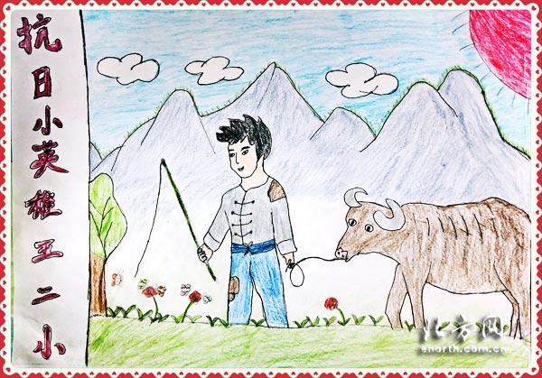 5Lq655Sf_儿童抗战绘画作品_儿童亲子绘画作品图片_学生美术 ...