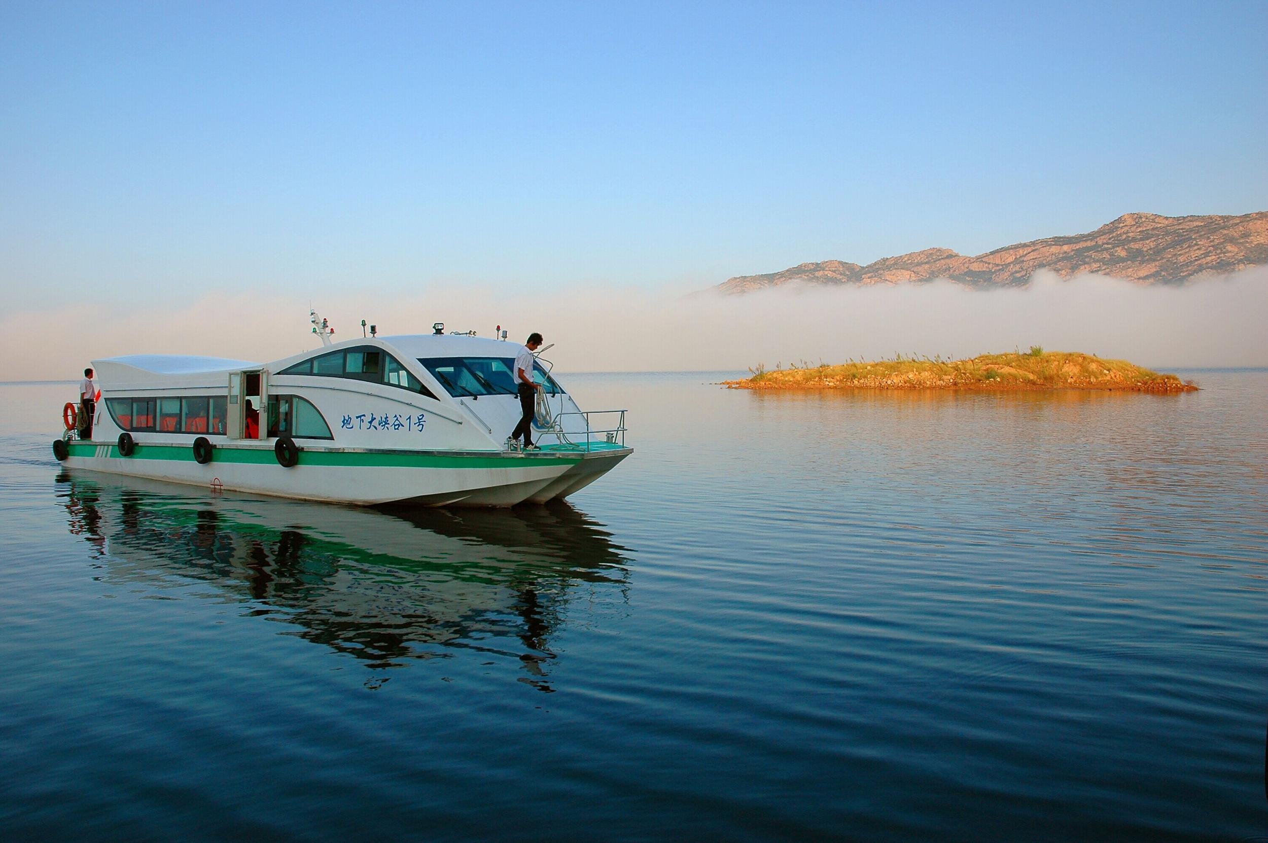 天马岛游船整装待发 十一游天湖享碧海蓝天