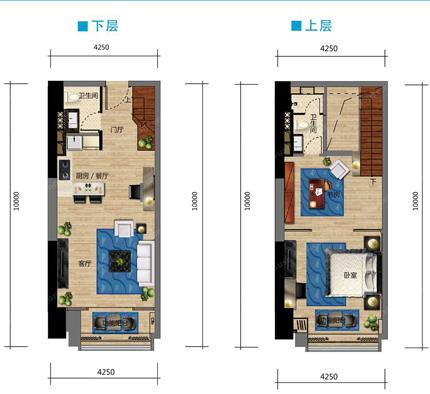 建築面積69平米戶型圖