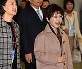中國國民黨主席洪秀柱抵達南京 開始訪問行程