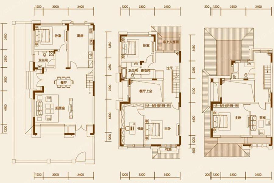 建築面積234平米戶型圖