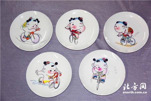 盘子上的全运 天津志愿者玩转指尖艺术迎全运