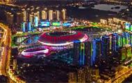 俯視殘運會期間的天津 展現夏末不一樣的津城景色